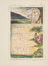 Songs of Innocence and of Experience: Holy Thursday, ca. 1825. Creator: William Blake.