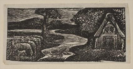 Sabrina's Silvery Flood, from Thornton's Pastorals of Virgil, 1821. Creator: William Blake.