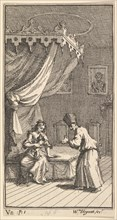 The New Metamorphosis, Plate 5: Fantasio, Transformed into a Lapdog, in the with Donna The..., 1724. Creator: William Hogarth.