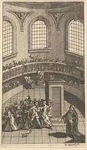 """Frontispiece to Nicholas Amhurst's """"Terrae-Filius"""", June 1726. Creator: William Hogarth."""