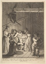 The Innkeeper's Wife and Daughter Taking Care of ye Don after Being Beaten and Br..., 1756 or after. Creator: William Hogarth.