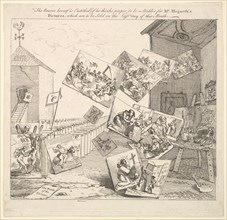 The Battle of the Pictures, 1745. Creator: William Hogarth.