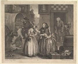 A Harlot's Progress, Plate 1, April 1732. Creator: William Hogarth.