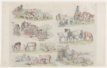 Plate 11, Outlines of Figures, Landscapes and Cattle...for the Use of Learners, January 31, 1791.