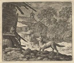 The Cat Climbs a Barn. From Hendrick van Alcmar's Renard The Fox