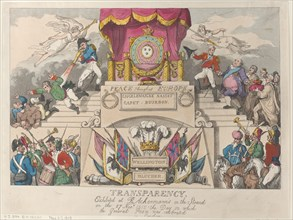Transparency: Exhibited at R. Ackermann's in the Strand on the 27th November 1815