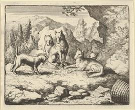 The Cat Calls Renard to Appear before the Tribunal. From Hendrick van Alcmar's Renard The Fox