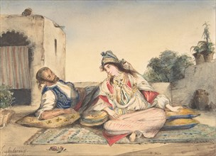 A Moroccan Couple on Their Terrace, 1832.