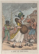 A Cat in Pattens, 1812.