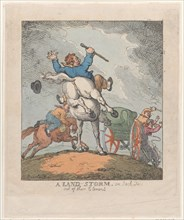 A Land Storm, or Jack Tars Out of Their Element, 1790-1815.