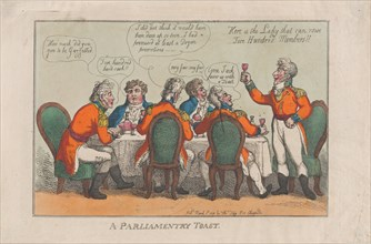 A Parliamentary Toast, March 2, 1809.