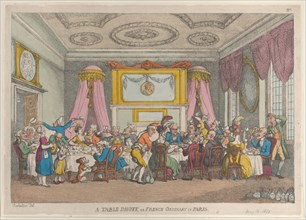 A Table D'Hote or French Ordinary in Paris, May 30, 1810.