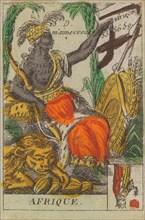 Afrique from Playing Cards (for Quartets) 'Costumes des Peuples Étrangers', 1700-1799.