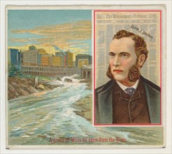 Alden J. Blethen, The Minneapolis Tribune, from the American Editors series (N35) for Allen & Ginter Cigarettes, 1887.
