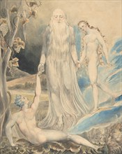 "Angel of the Divine Presence Bringing Eve to Adam (The Creation of Eve: ""And She Shall be Called Woman) (recto); Sketch for the same (verso), ca. 1803."