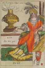 Asie from Playing Cards (for Quartets) 'Costumes des Peuples Étrangers', 1700-1799.