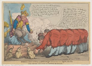 Broad Bottoms in Holland Worshiping Their New King, July 23, 1806.