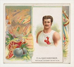 C.A.J. Queckberner, Shot Put, from World's Champions, Second Series (N43) for Allen & Ginter Cigarettes, 1888.