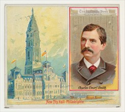 Charles Emory Smith, The Philadelphia Press, from the American Editors series (N35) for Allen & Ginter Cigarettes, 1887.
