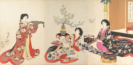 Chiyoda Castle (Album of Women), 1895.