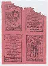 Covers for 'La Pesadilla de Alejito o el Almuerzo de Azotes' and 'Juan Ceniza', ca. 1890-1910.