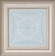 Design for a ceiling paianted in filagree patterns, 1830-97.