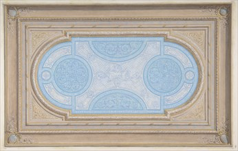 Design for a ceiling painted in filagree designs, second half 19th century.