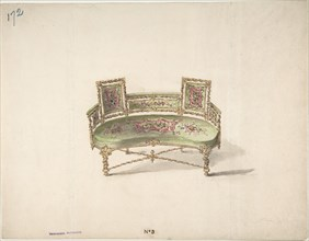 Design for a Curve-backed Settee, early 19th century.