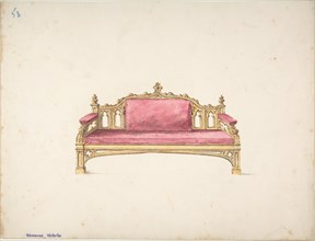 Design for a Gothic Settee, early 19th century.