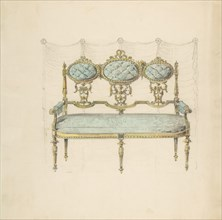 Design for a Settee, 19th century.