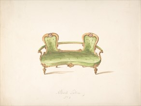 Design for Albert Settee, early 19th century.