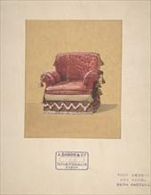 Design for an Armchair, 19th century.