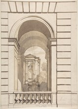 Design for Stable Arches, Hôtel Candamo, ca. 1873.