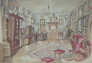 Drawing of an Interior: Atelier, 1857.