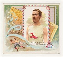 E.C. Carter, Runner, from World's Champions, Second Series (N43) for Allen & Ginter Cigarettes, 1888.