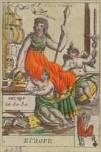 Europe from Playing Cards (for Quartets) 'Costumes des Peuples Étrangers', 1700-1799.