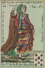 F.e de la B. des Manilles from Playing Cards (for Quartets) 'Costumes des Peuples Étrangers', 1700-1799.