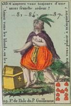 F.e de l'Isle du P. Guillaume from Playing Cards (for Quartets) 'Costumes des Peuples Étrangers', 1700-1799.