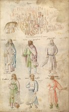 Famous Men and Women from Classical and Biblical Antiquity., 1450s.