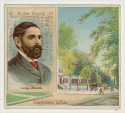 George Bleistein, Buffalo Courier, from the American Editors series (N35) for Allen & Ginter Cigarettes, 1887.