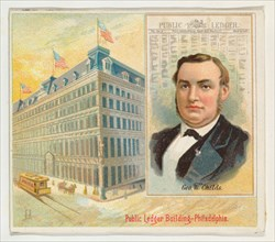 George W. Childs, Philadelphia Public Ledger, from the American Editors series (N35) for Allen & Ginter Cigarettes, 1887.