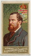 Governor General of Canada, from World's Sovereigns series (N34) for Allen & Ginter Cigarettes, 1889.