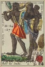 Hab.t de Juida from Playing Cards (for Quartets) 'Costumes des Peuples Étrangers', 1700-1799.