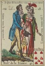 Hab.t de la France from Playing Cards (for Quartets) 'Costumes des Peuples Étrangers', 1700-1799.