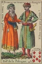 Hab.t de la Pologne from Playing Cards (for Quartets) 'Costumes des Peuples Étrangers', 1700-1799.