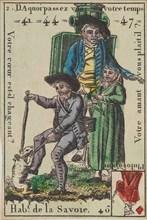 Hab.t de la Savoie from Playing Cards (for Quartets) 'Costumes des Peuples Étrangers', 1700-1799.