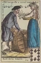 Hab.t de la Suisse from Playing Cards (for Quartets) 'Costumes des Peuples Étrangers', 1700-1799.