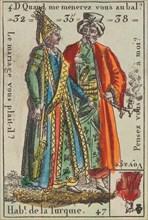 Hab.t de la Turquie from Playing Cards (for Quartets) 'Costumes des Peuples Étrangers', 1700-1799.