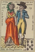 Hab.t de l'Angleterre from Playing Cards (for Quartets) 'Costumes des Peuples Étrangers', 1700-1799.
