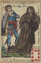 Hab.t de l'Espagne from Playing Cards (for Quartets) 'Costumes des Peuples Étrangers', 1700-1799.